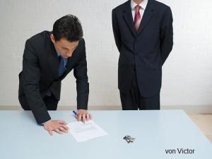 Vertrag unterschreiben