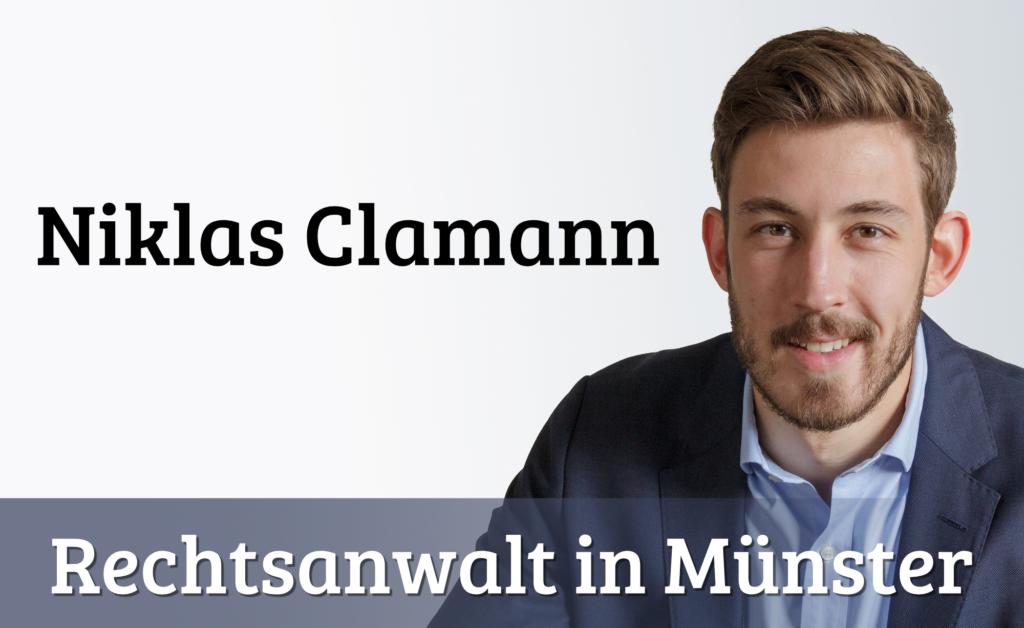 Nicklas Clamann - Rechtsanwalt in Münster